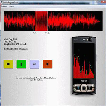 تحميل برنامج يقوم بانشاء نغمات الموبايل Mobile Ringtone Studio