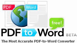 تحميل برنامج تحويل ملفات من نوع  Adobe PDF إلى وورد  Free PDF To Word Doc Converter