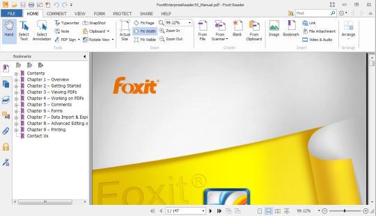 تحميل البرنامج الرائع  Foxit Reader مجانا