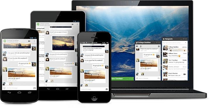 تحميل تطبيق الدردشة Hangouts  من جوجل لجميع أجهزة الكمبيوتر والهواتف