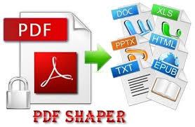 تحميل برنامج PDF Shaper لفك تشفير ملفات PDF