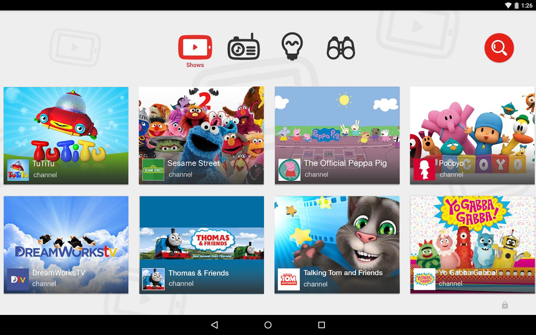 عروض يوتيوب صديقة للطفل YouTube for kid-friendly