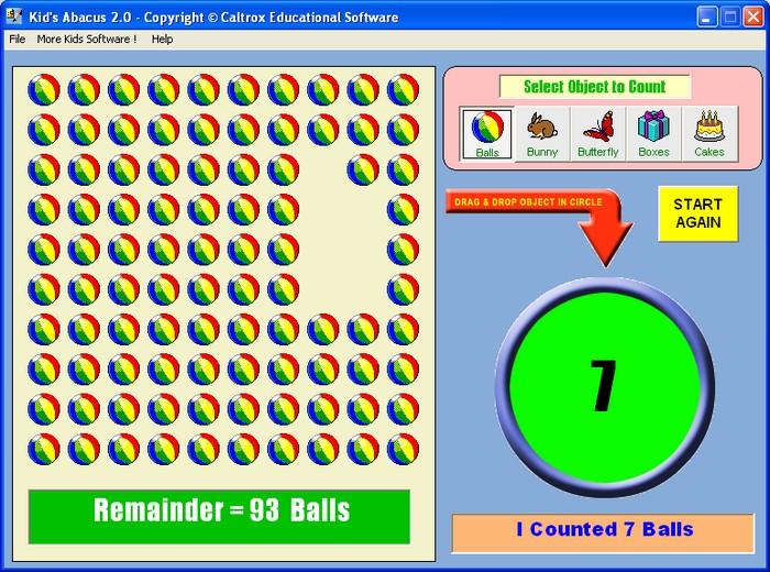 برنامج  Kids Abacus  لتعليم أطفالك تعلم العد إلكترونيا