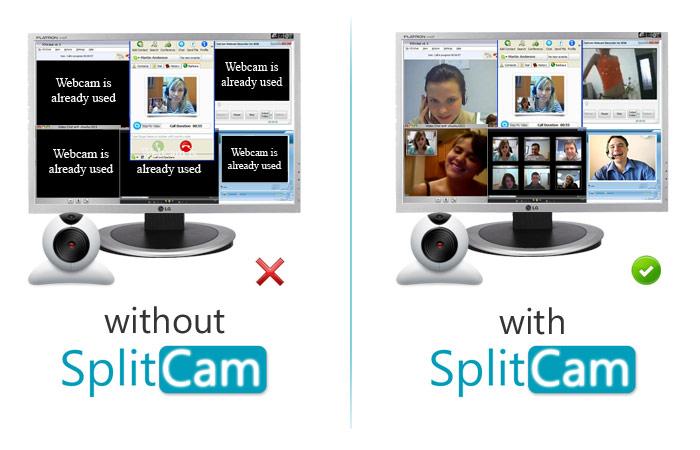تحميل برنامج Splitcam بأحدث إصدار – استمتع بمشاهدة جميع أصدقاءك في آن واحد