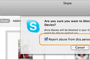 الدرس الثالث: كيف يمكنك حظر جهة اتصال في سكايب لنظام التشغيل ماك Mac OS X