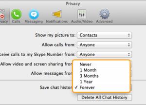الدرس الثاني: كيف يمكنك إدارة سجل الدردشات في سكايب لنظام التشغيل ماك Mac OS X