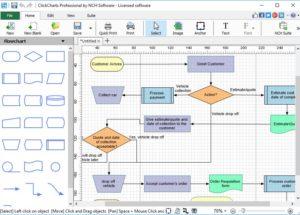 تعرف على  ClickCharts 3.12 Beta برنامج المدهش لرسم وبناء أي نوع من مخططات الرسم البياني